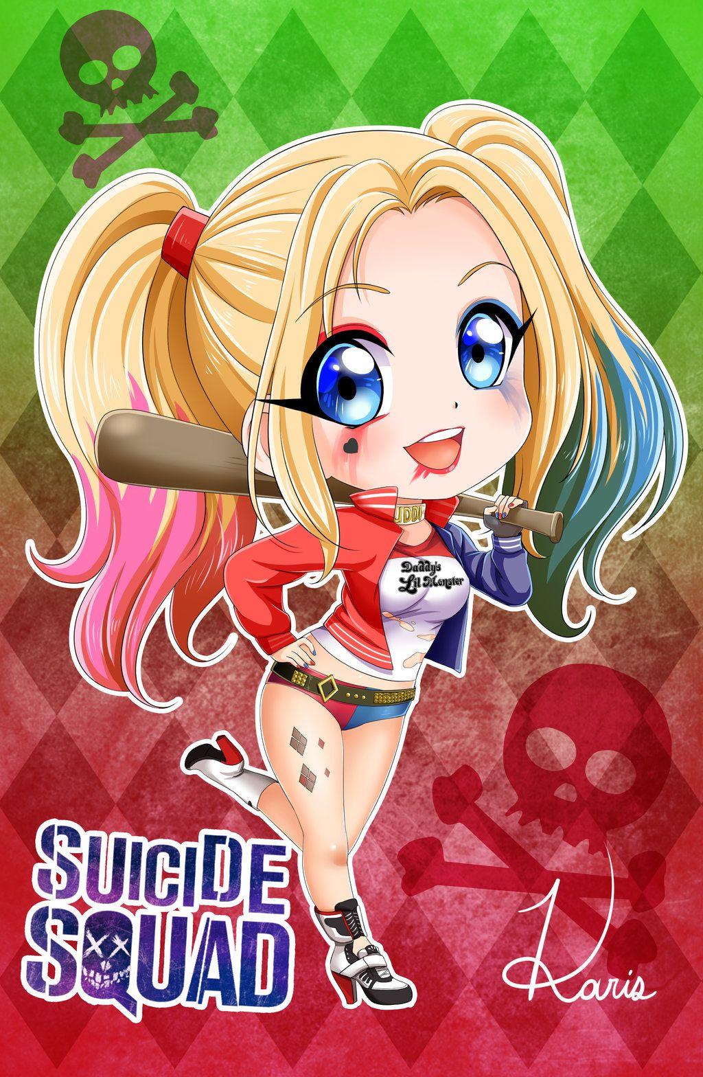 Harley Quinn (chibi) by KARIScoba on DeviantArt Mis