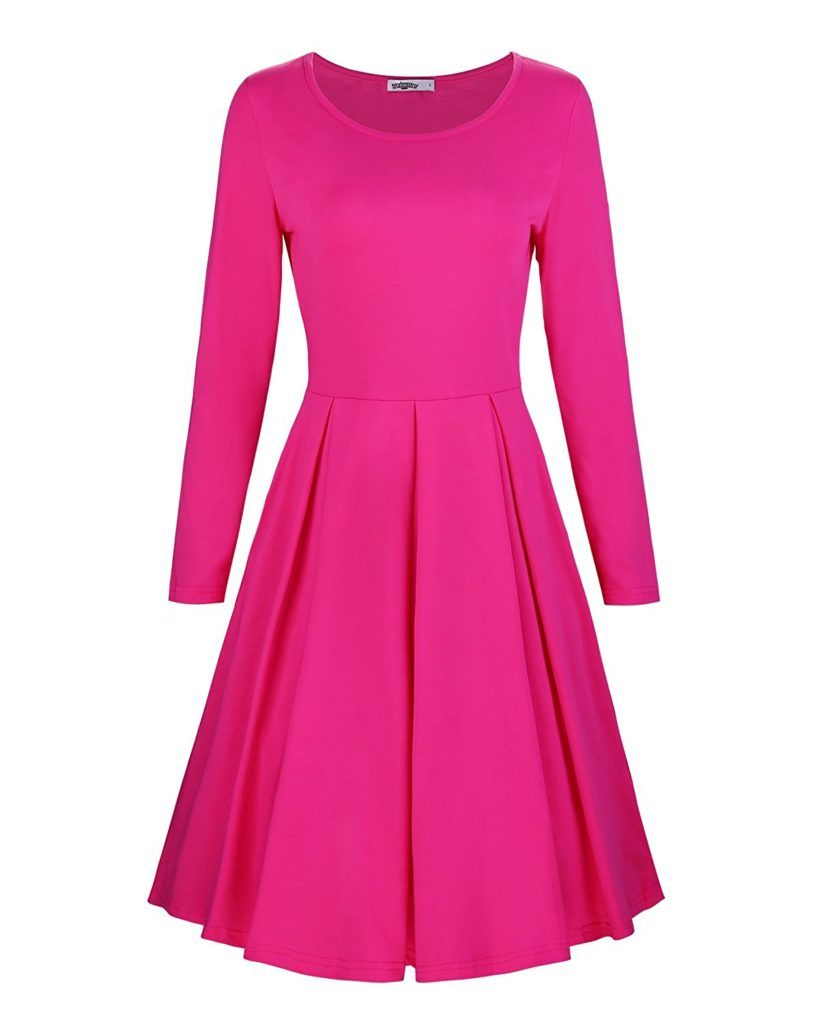 Styleword Women S Sleeveless Casual Cotton Flare Dress
