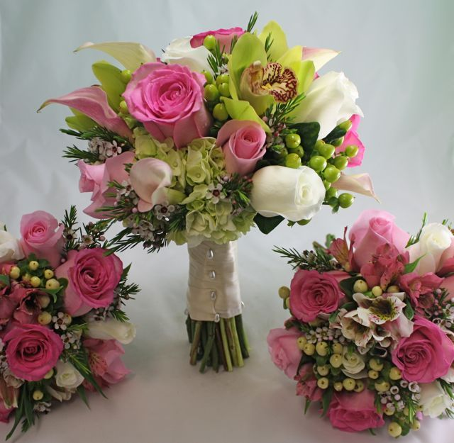 Pink And Green Wedding Flowers Gallery - Flower Decoration Ideas