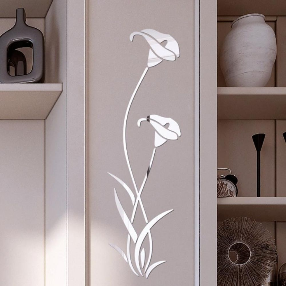 3d diy flower shape acrylic wall sticker modern stickers