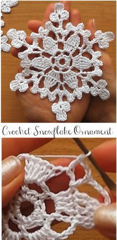 Crochet Snowflake Ornament - #crochet #Ornament #Snowflake #crochetelements