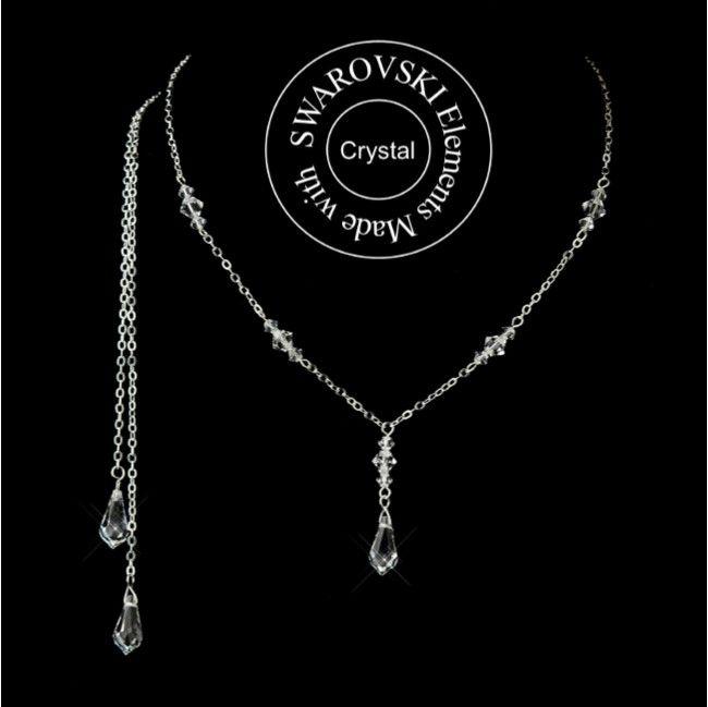 Top Portez ce bijou de dos mariage avec perles de cristal Swarovski  LV93