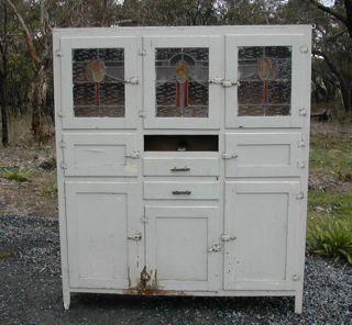cupboard    vintage 3 door leadlight kitchen     vintage 3 door leadlight kitchen cabinet for restoration   kitchen      rh   pinterest com