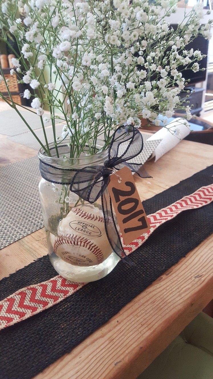 Baseball centerpiece wedding shower in pinterest béisbol