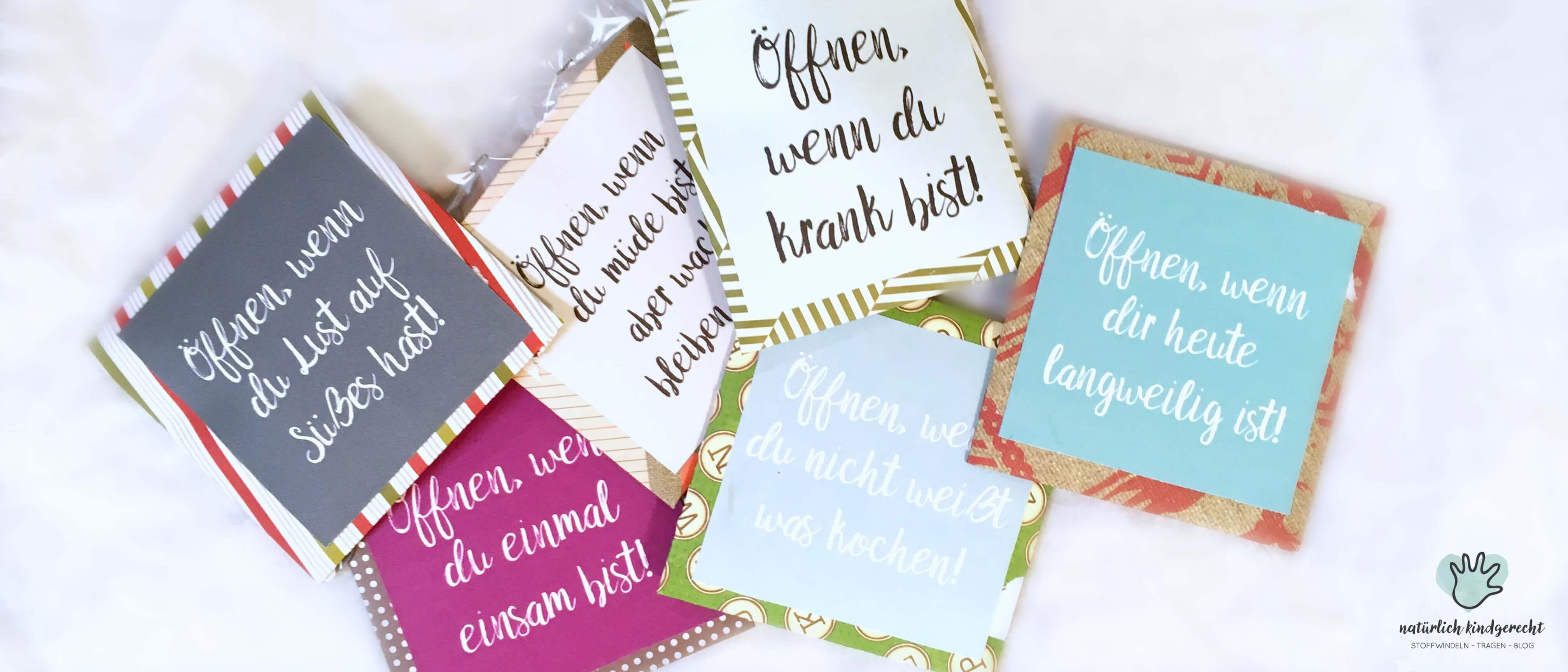 öffnen wenn brief geschenkidee für jeden anlass weihnachten idee ...