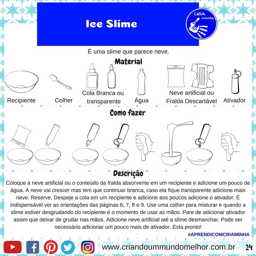 Atividades Para Criancas Ferias Ice Slime Slime Gelo Slime