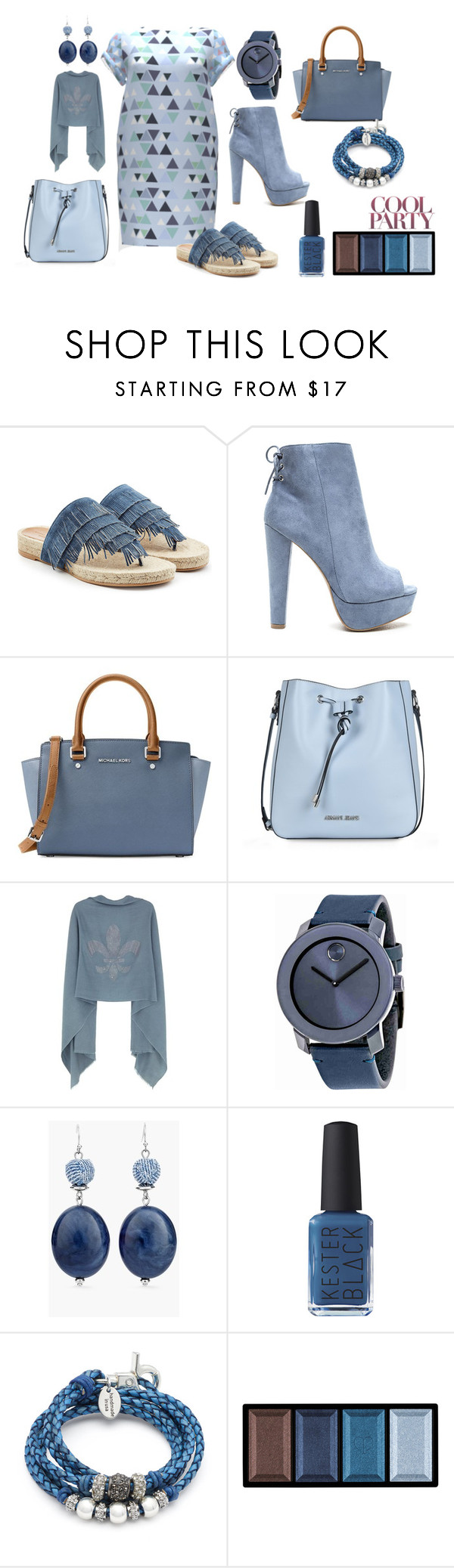 Cool Party by kelly-floramoon-legg on Polyvore featuring Sonia Rykiel, MICHAEL Michael Kors, Armani Jeans, Movado, Lizzy James, Chico's, Clé de Peau Beauté and Kester Black