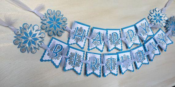 Frozen DIY banner Frozen inspired 'Happy Birthday' by FalcoClan