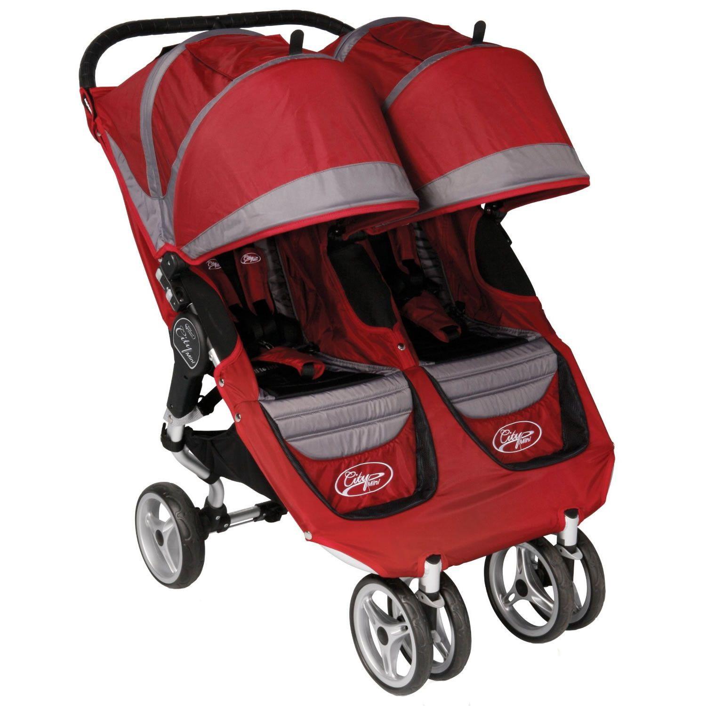 Baby Jogger City Mini Double Stroller Crimson/Gray City