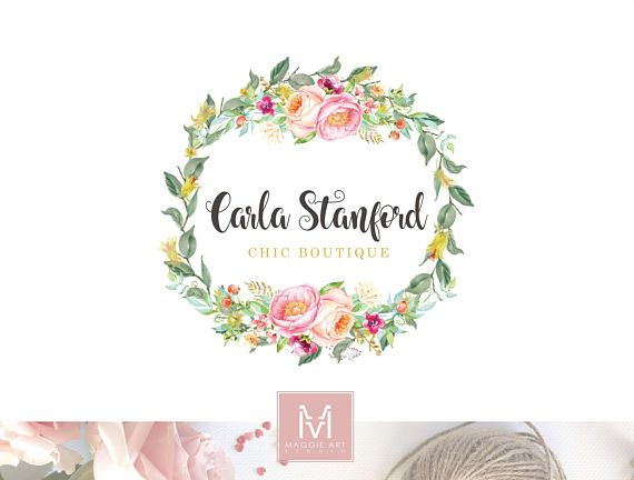 Fl Logo Design Boutique Decor Wedding