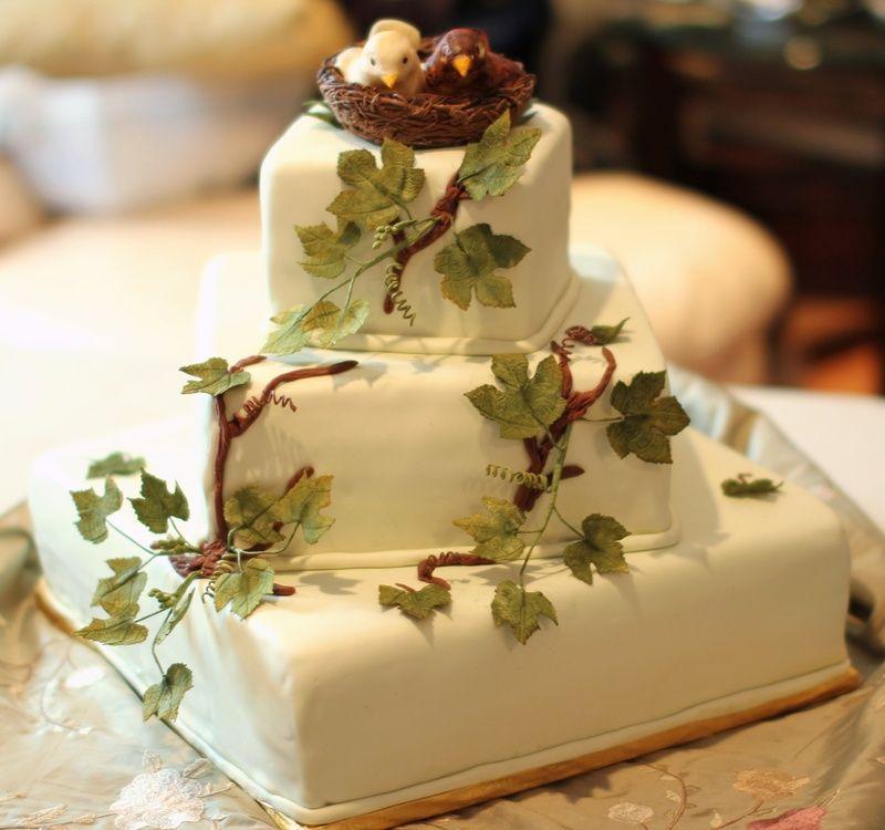Love Birds Wedding Theme Nest Grape Leaves Meaning Fertility Tuxedo Cake