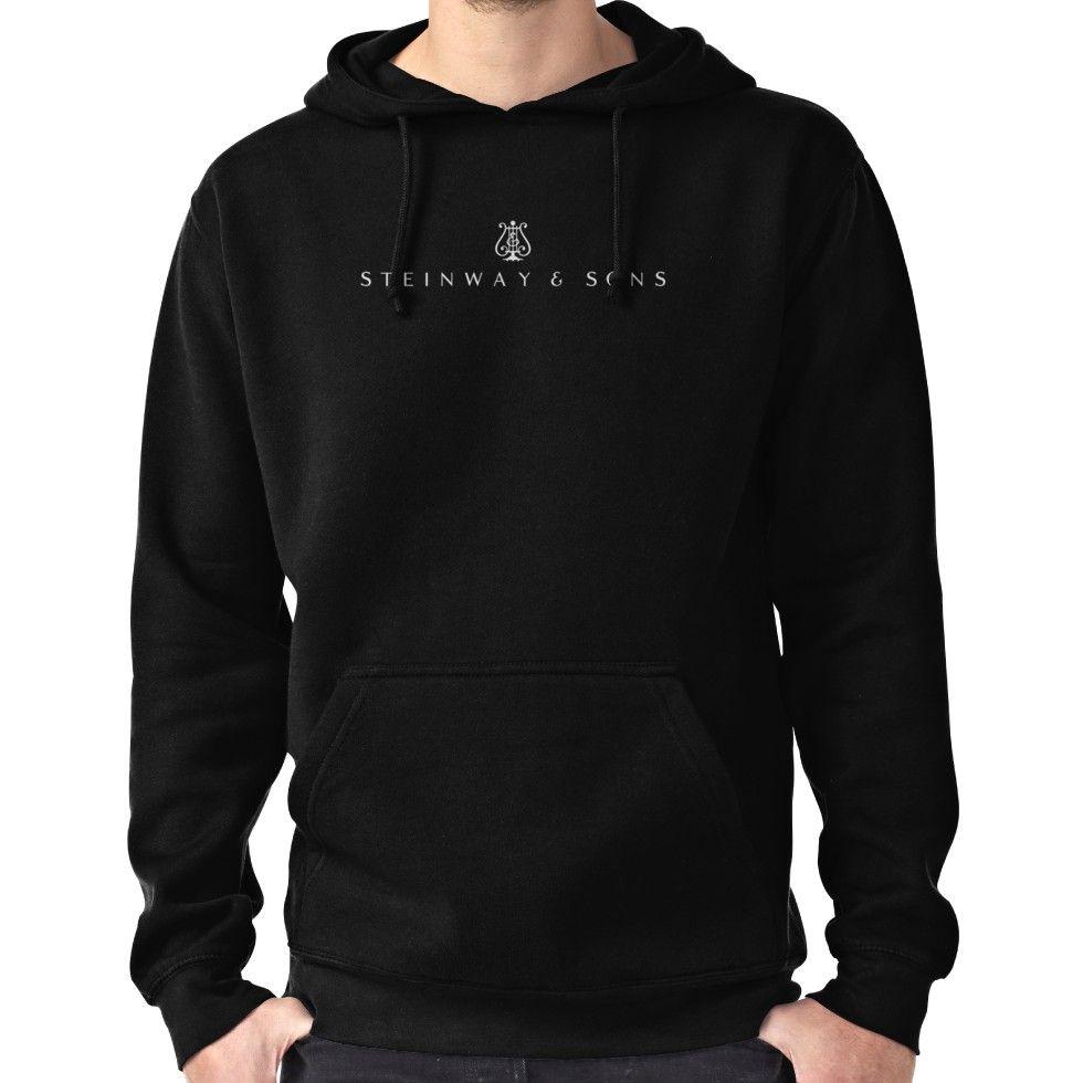 Steinway & Sons Logo White Hoodie (Pullover) | Hoodies