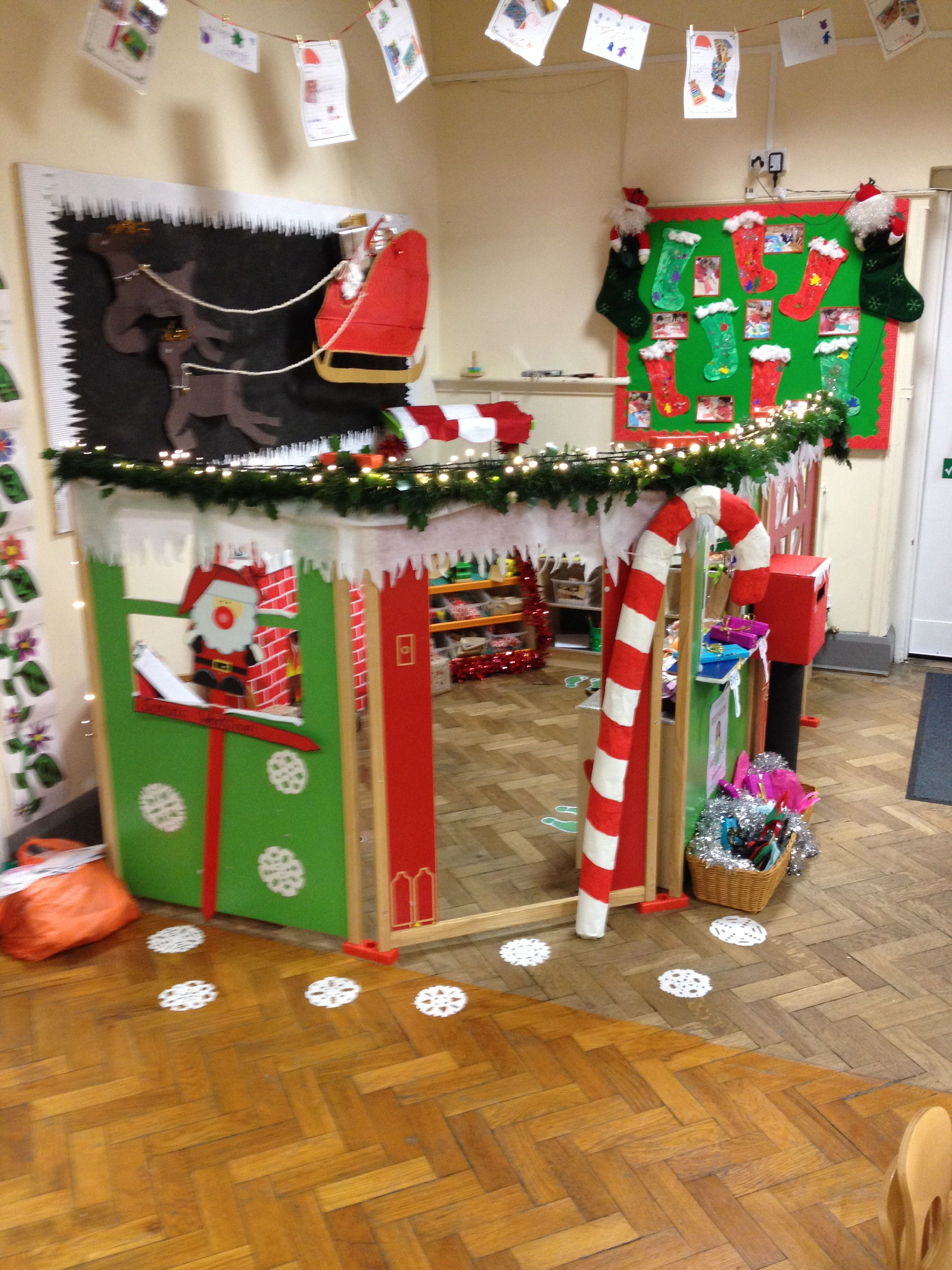 Santas Workshop At Nursery On The Green Christmas Activities Christmas Kindergarten Christmas Classroom