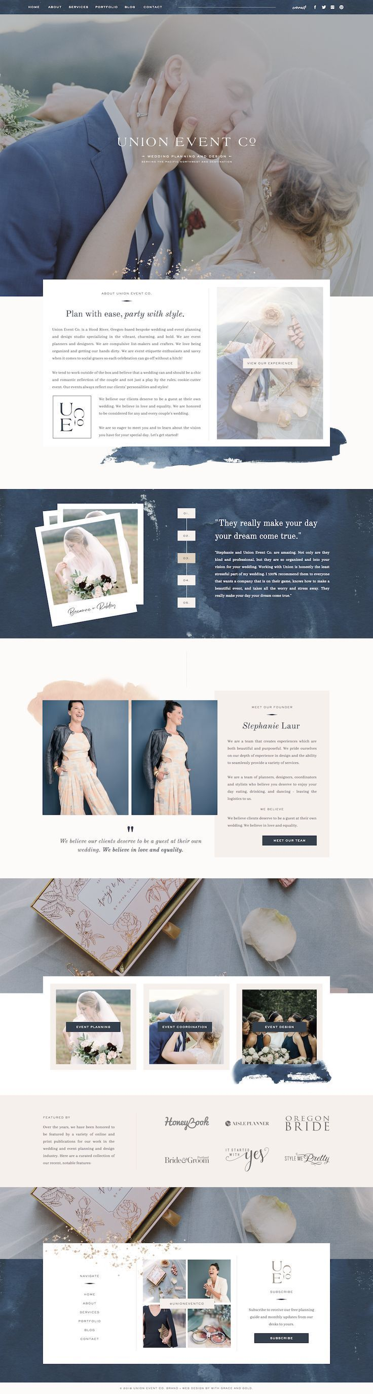 Custom Showit Web Design for Union Event Co. by With Grace ...