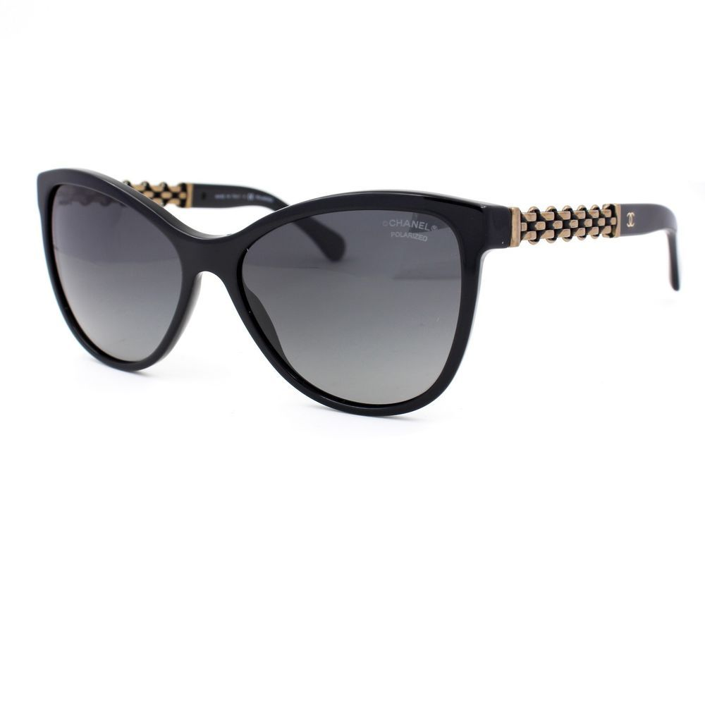 ecf522333d Chanel Butterfly Chain Sunglasses with Grey Polarized Lenses 5326 C501 S8   CHANEL  Butterfly