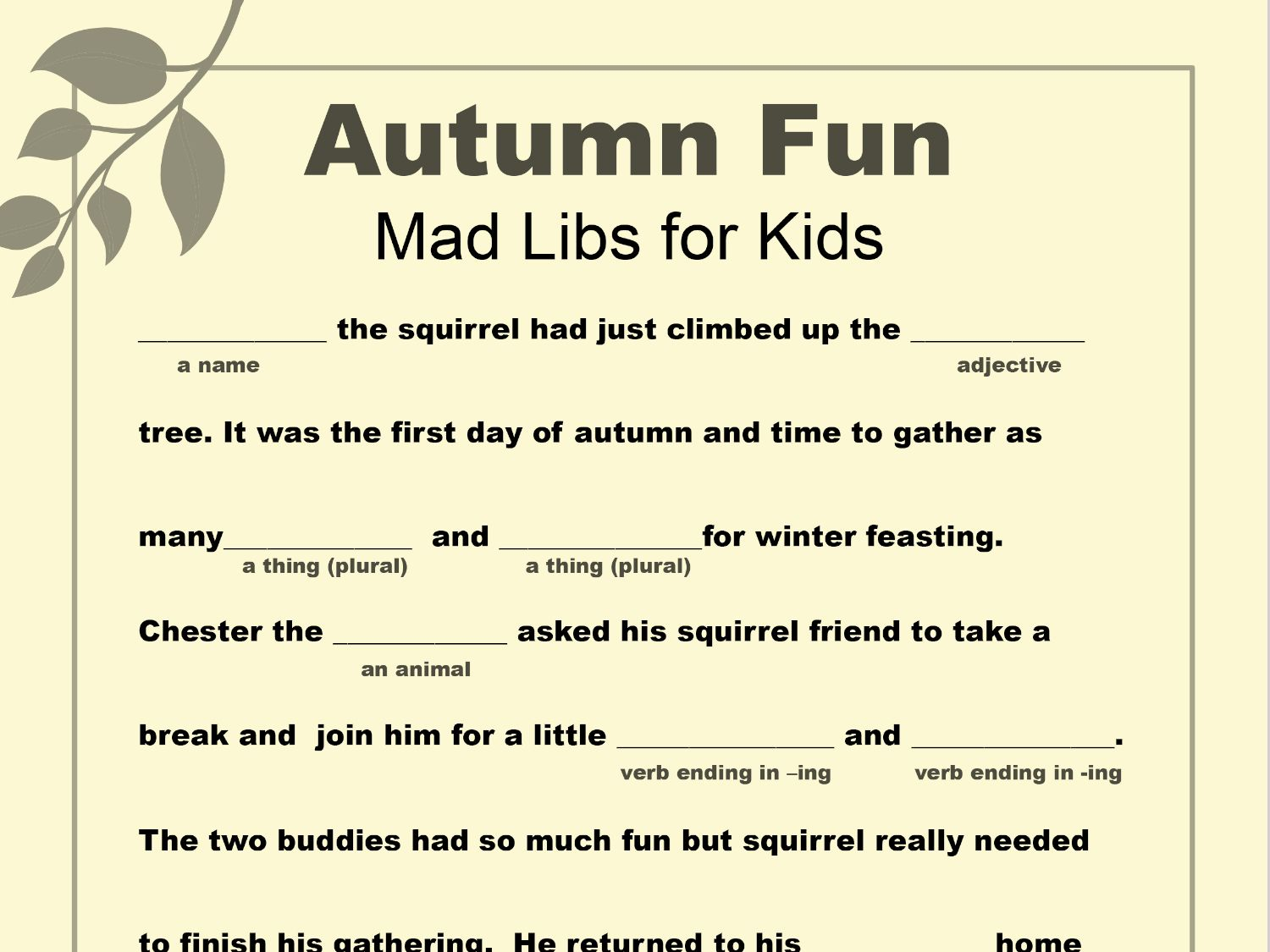 Your Child Can Celebrate Falling Leaves And Chillier Days