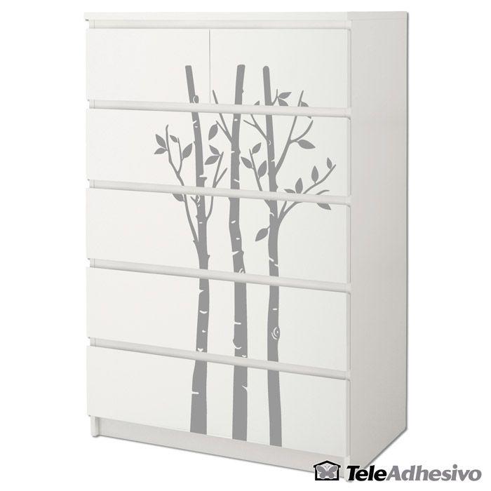 Cómoda #Malm de #Ikea decorada con #vinilo decorativo de bambú ...