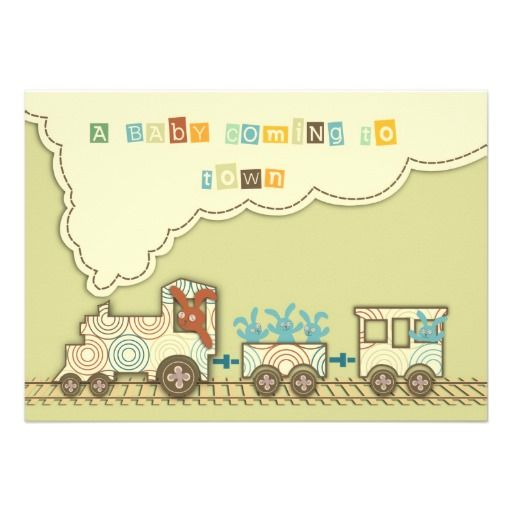 Choo Choo Train Invitation Card