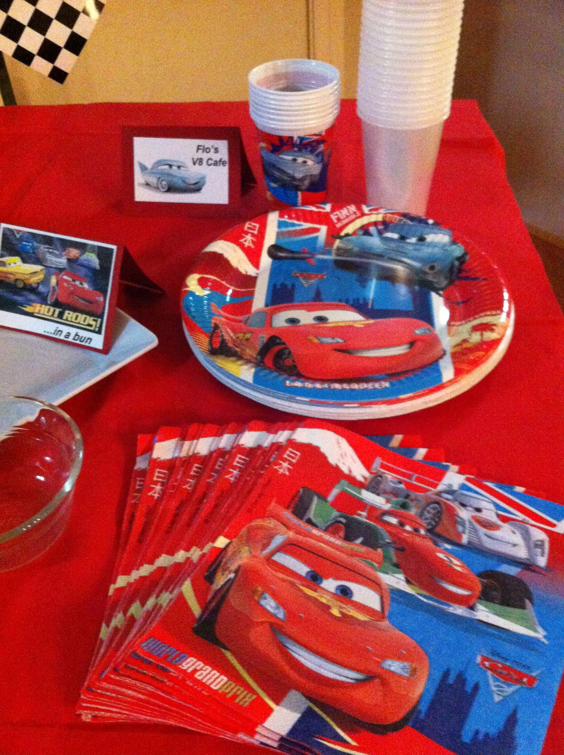 Disney Cars Birthday Party supplies cars party Pinterest