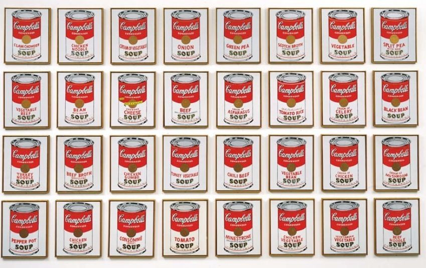 Am Warhol Moca Campbell S Soup Cans Andy Warhol Soup Cans Andy Warhol Art
