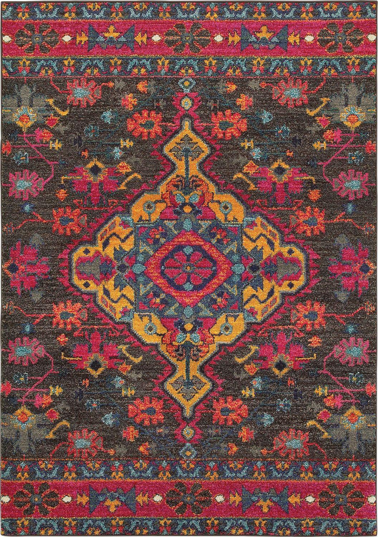 Best Oriental Weavers Bohemian 8222D Charcoal Transitional Rug 400 x 300