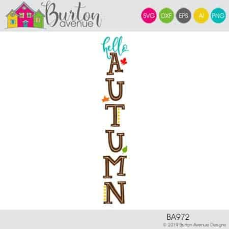 Hello Autumn Vertical - Limited Time Free SVG File - Burton Avenue #helloautumn