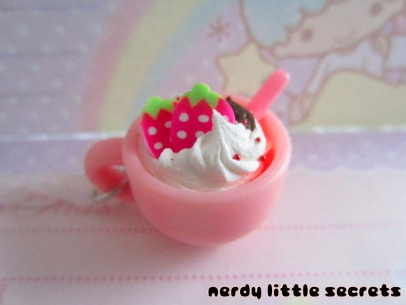 Fairy Kei Lolita Cup of Sweets Necklace by NerdyLittleSecrets, $9.00