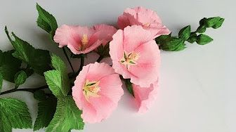 Abc Tv How To Make Hollyhock Paper Flower From Crepe Paper Craft