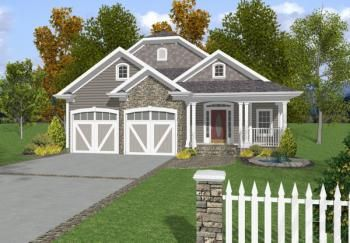 House Plan 036 00105 Cottage Plan 2 296 Square Feet 3 Bedrooms 3 5 Bathrooms In 2020 Country Style House Plans Cottage House Plans Narrow Lot House Plans