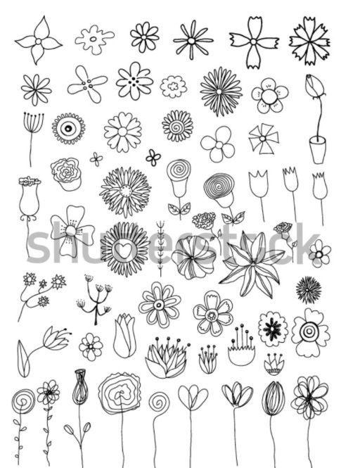 Doodle Basic Simple Design Doodles And Sketch Notes Flower