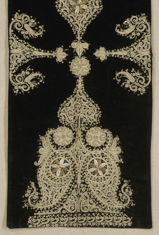 Ottoman Embroidered Panel Turkey Late 19th Century
