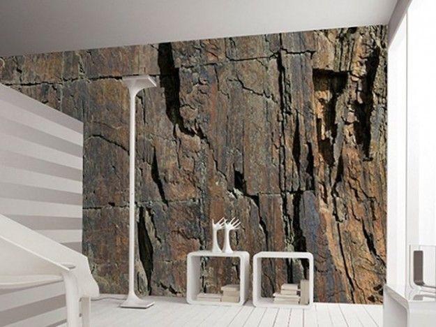 Carta da parati effetto pietra su pinterest brick for Carta da parati effetto pietra 3d