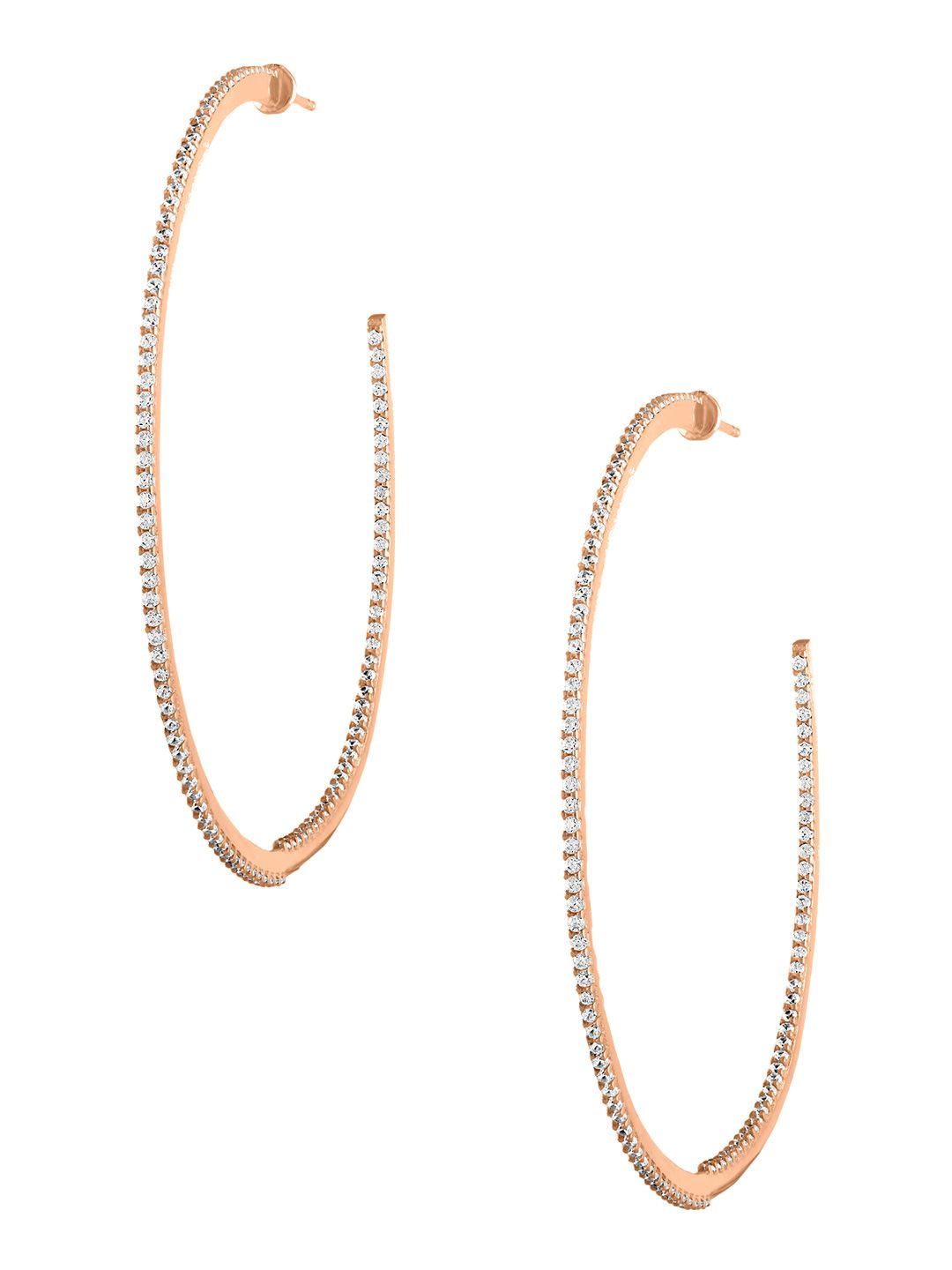 ca6db292b SPHERA MILANO WOMEN'S 18K ROSE GOLD-PLATED STERLING SILVER INSIDE OUT LARGE  HOOP EARRINGS. #spheramilano #