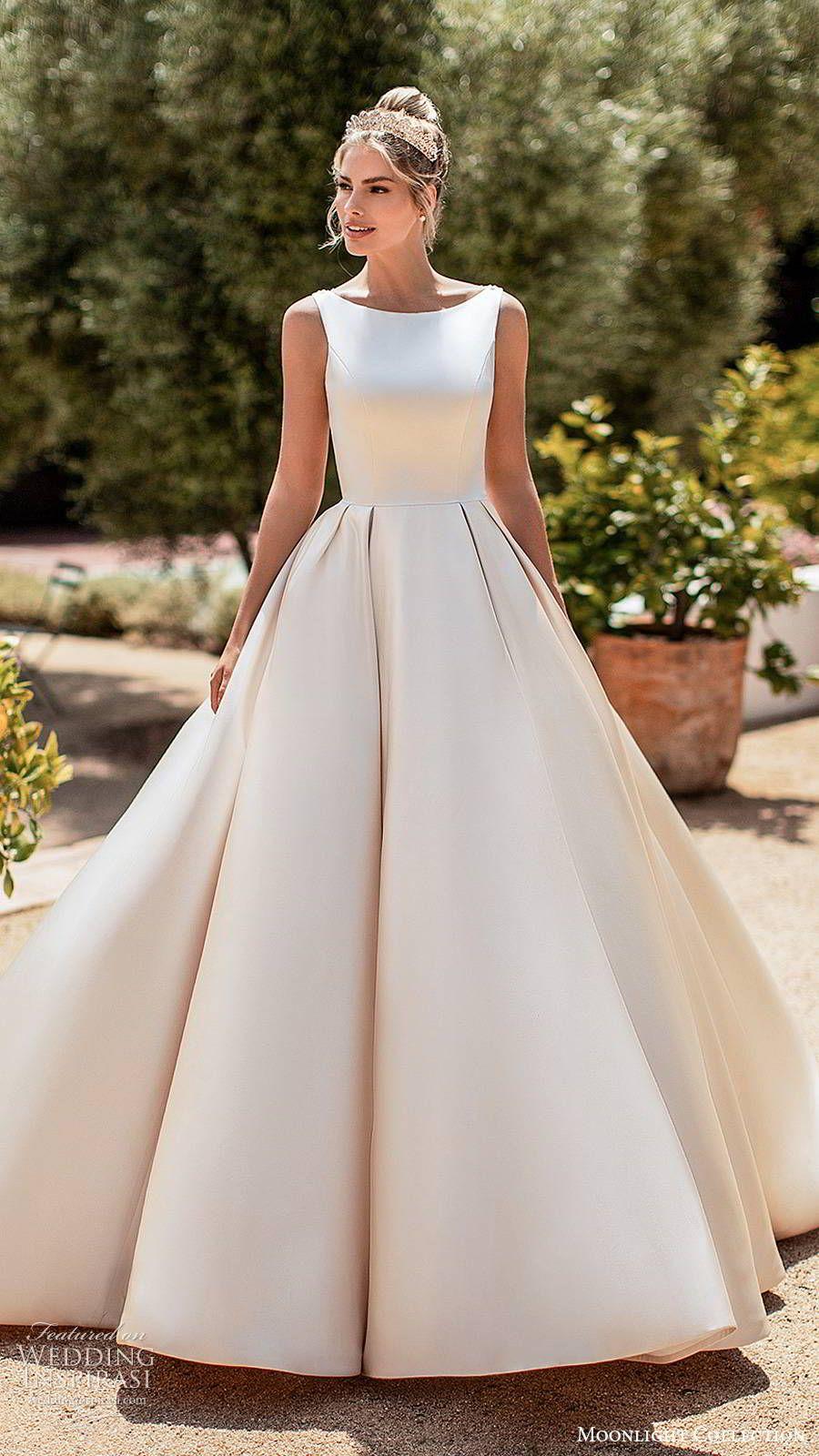 Moonlight Collection Spring 2020 Wedding Dresses Wedding Inspirasi Wedding Dresses Simple Elegant Wedding Dress Elegant Wedding Gowns [ 1600 x 900 Pixel ]