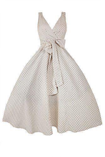 Trapèze Rétro Femme Vintage Motif Années Pour 50 Robe Avec Esd c3LjqR54A