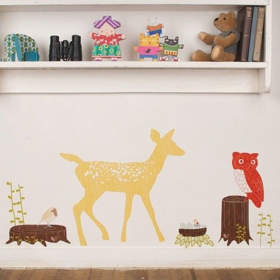 Fabric Deer Wall Decals (reusable)