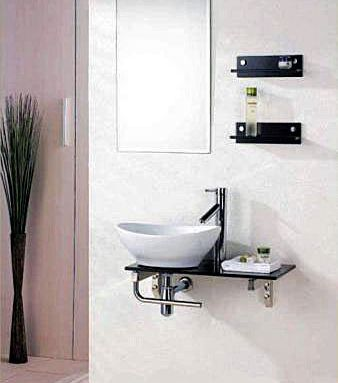 Pics On Image u u Wall mount space saving bathroom vanities vanity sink set