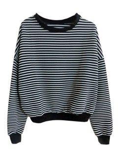 Choies Basic Striped Sweatshirt