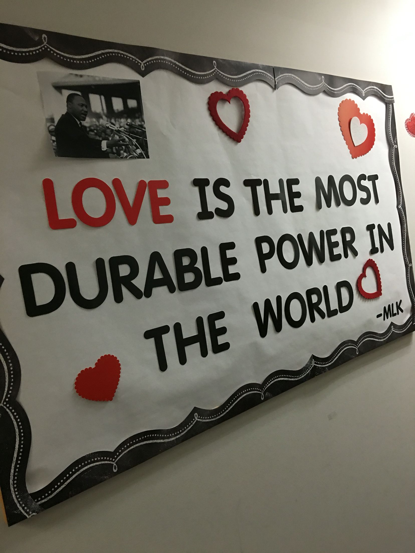 Work bulletin board. Black History Month and Valentine's ...