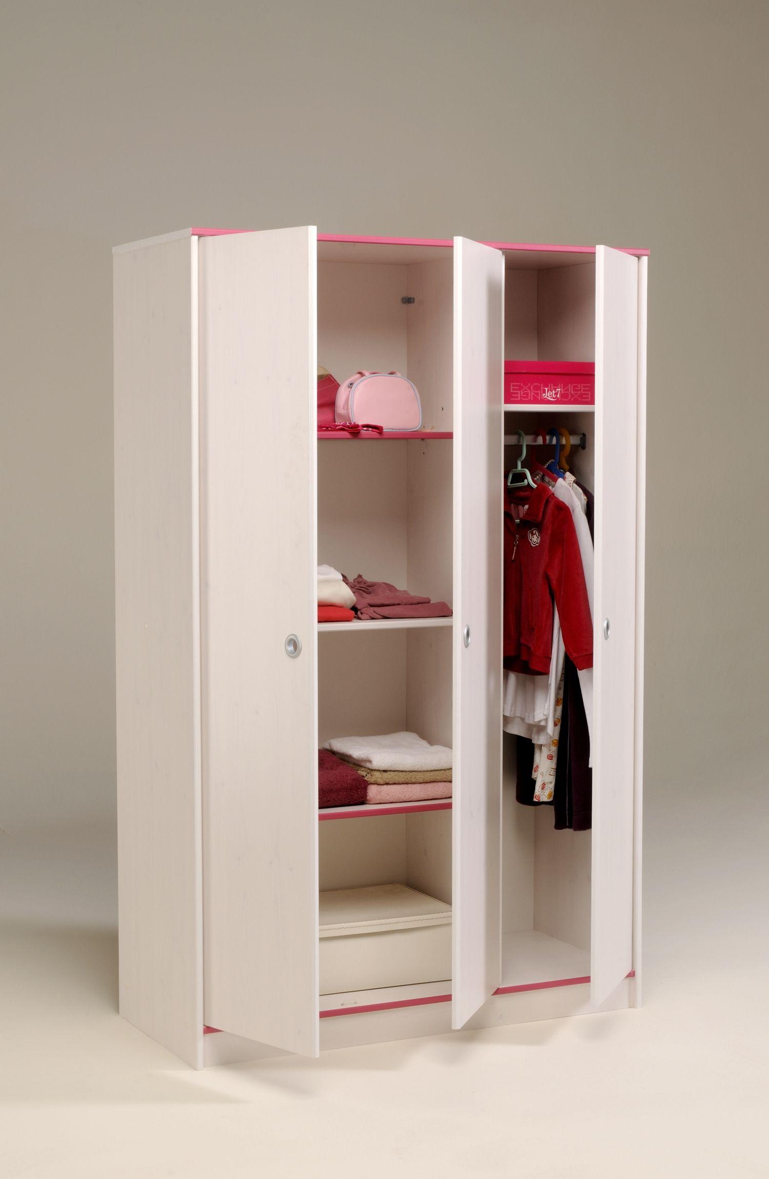Kleiderschrank Woozy Rosa II 3trg. Der Kleiderschrank