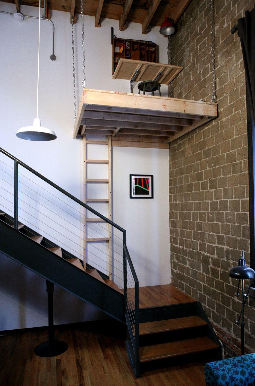 Suspended Loft with Trap Door. Tiny house loft, Loft