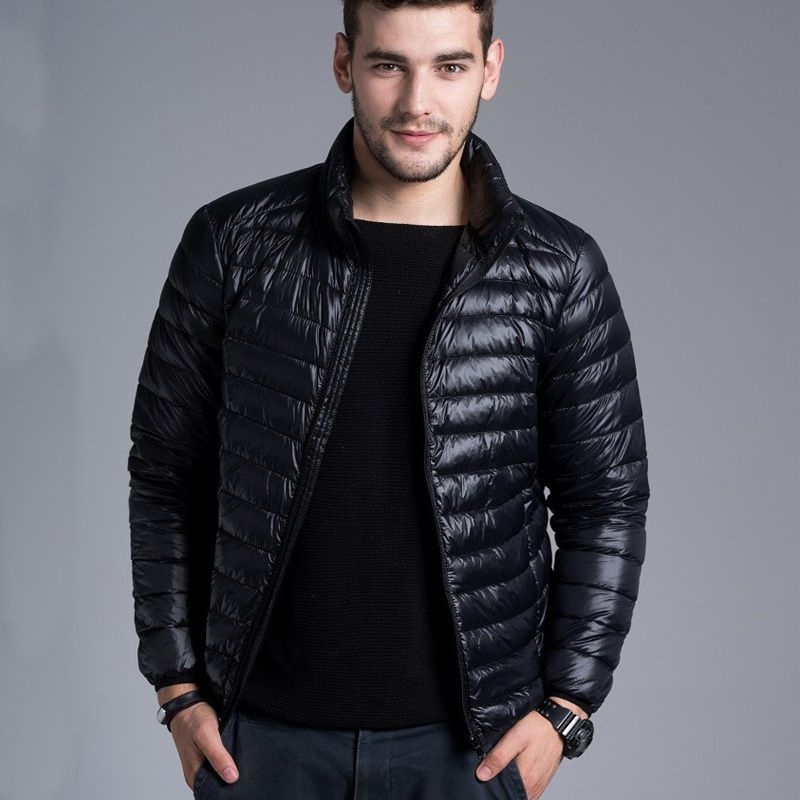 New Winter Padded Jacket Men Brand Duck Down Collar Casual Warm ...