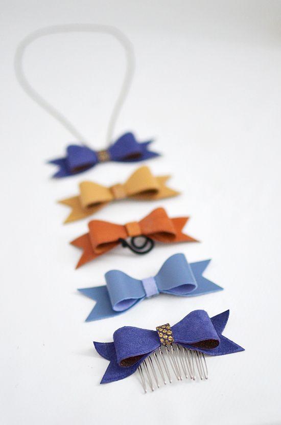 melissaesplin leather bow accessories