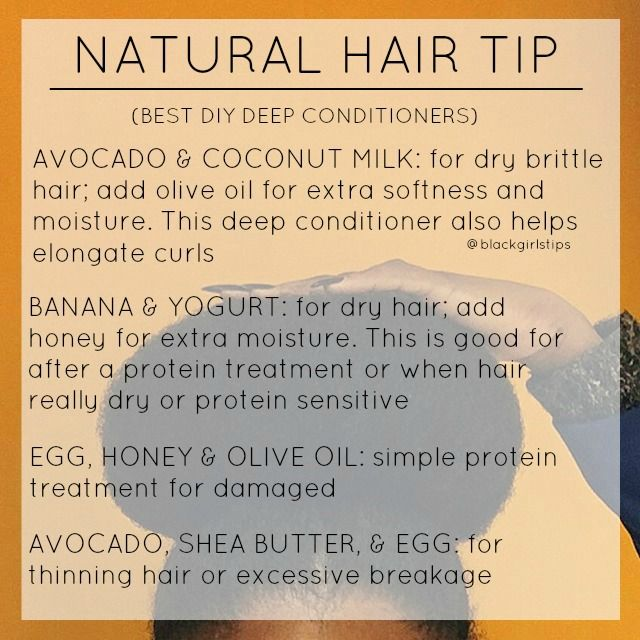 Diy Hair Treatment For Loss: DIY Deep Conditioners For Natural Hair