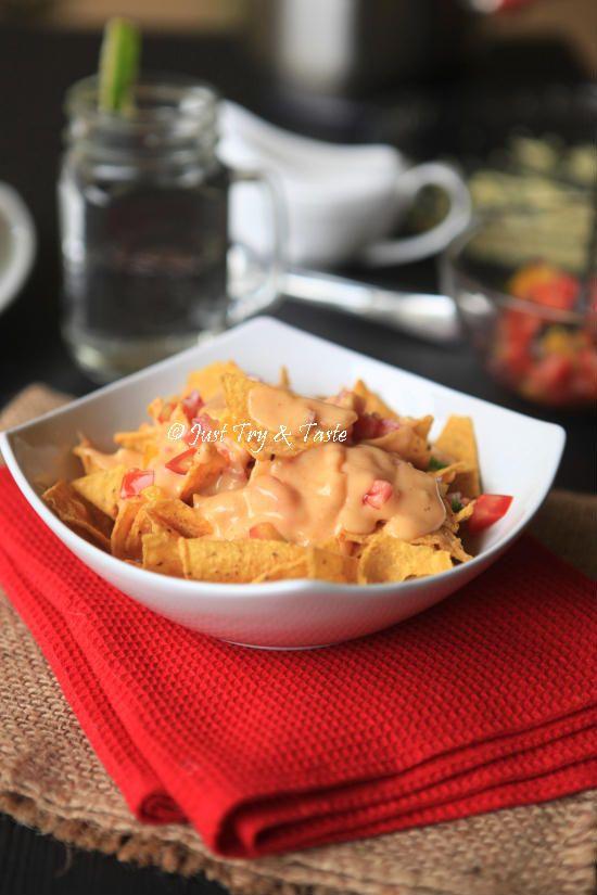 Resep Nachos Dengan Saus Keju Jtt Makanan Dan Minuman Keju Fotografi Makanan