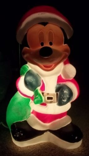 mickey mouse christmas blow mold lawn decoration disney - Mickey Mouse Christmas Lawn Decorations