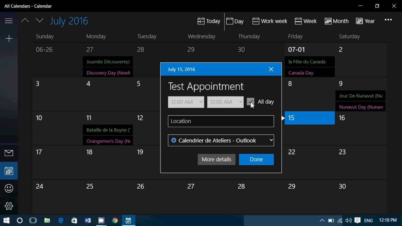Tips and tricks How to add Appointments to Windows 10