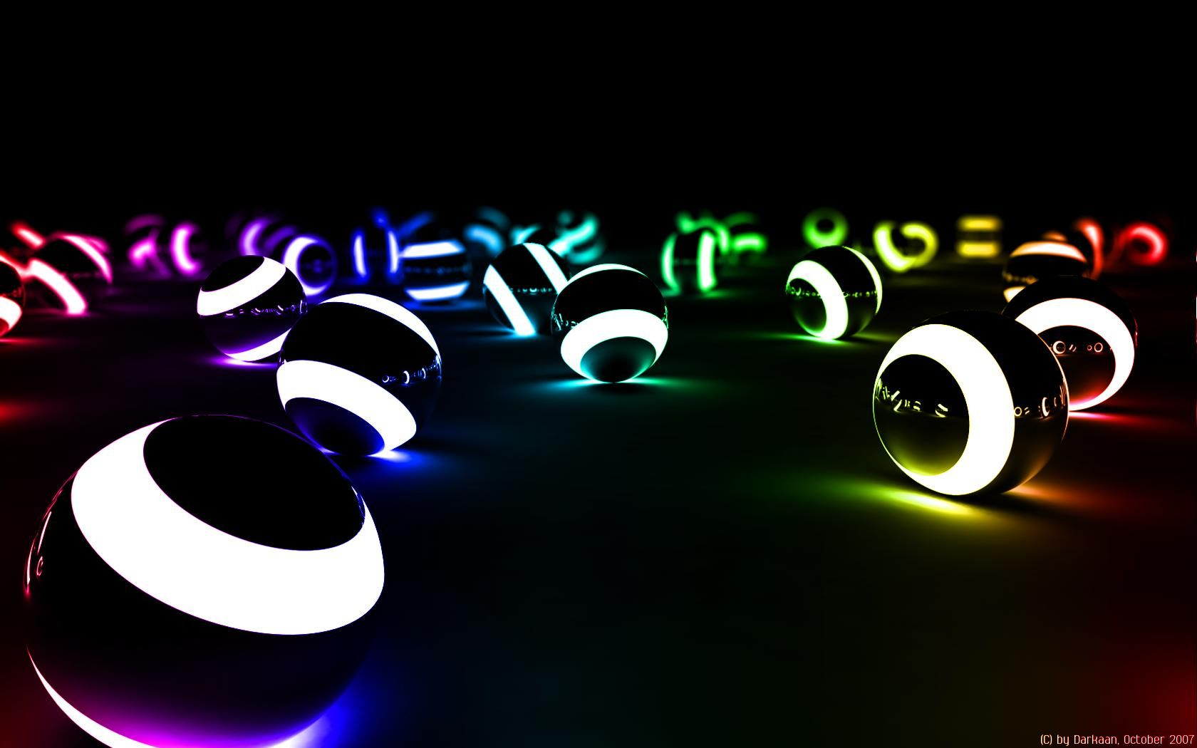 1680x1050 Hd Neon Glow Pool Balls Neon Light Wallpaper Neon