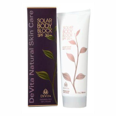 Ewg 1 Devita Natural Skin Care Solar Body Moisturizer Spf 30 Skin Deep Cosmetics Database Fragrance Free Products Natural Body Lotion Natural Skin Care