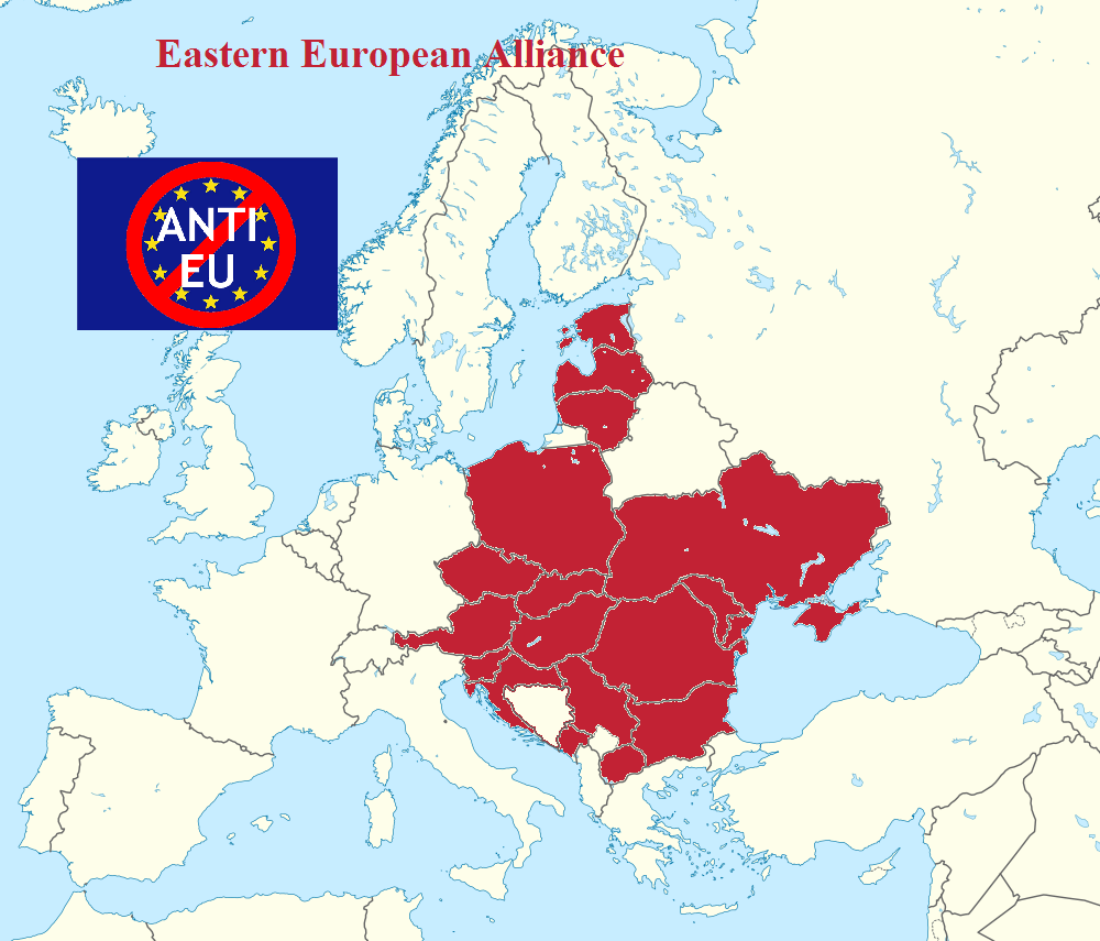 Future eastern european alliance map if the western dominated future eastern european alliance map if the western dominated european union continues its war against gumiabroncs Images